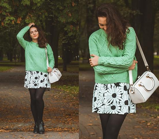 Katherine Adamenko - Dress, Bag, Topshop Sweater - In autumn - LOOKBOOK 2014-09-30 20-47-52