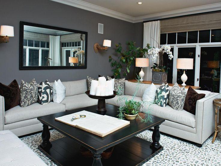 Spiegel Slaapkamer Feng Shui : HGTV Gray Living Room